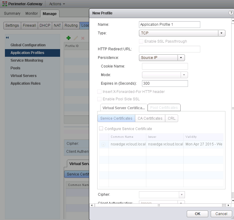 Create Modify and Remove an application profile and rules in NSX