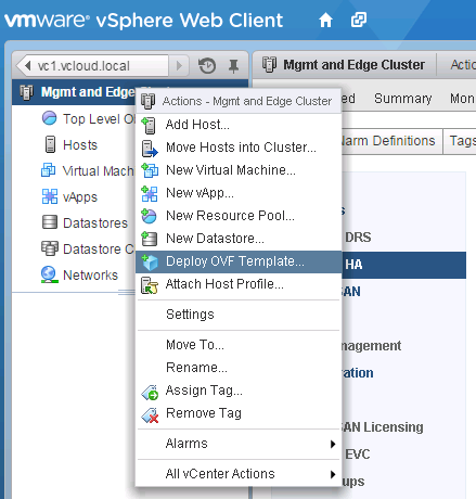 NSX Manager Appliance Installation and Deployment in NSX