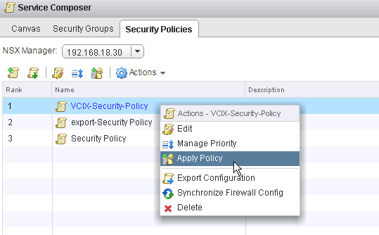 Configure and Manage Security Groups and Policies in NSX