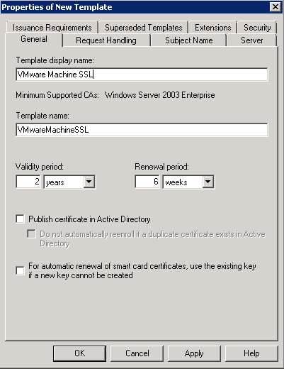 Creating Microsoft Ca Templates For Certificates In Vsphere 60